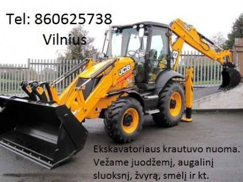Ekskavatorius Tel: 860625738 Vilnius racioko nuoma, ekskavatoriaus nuoma, ekskavatoriaus paslaugos
