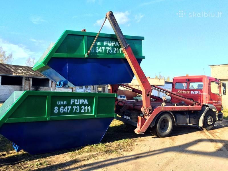 konteinerių noma šiūkšlių išvežimas