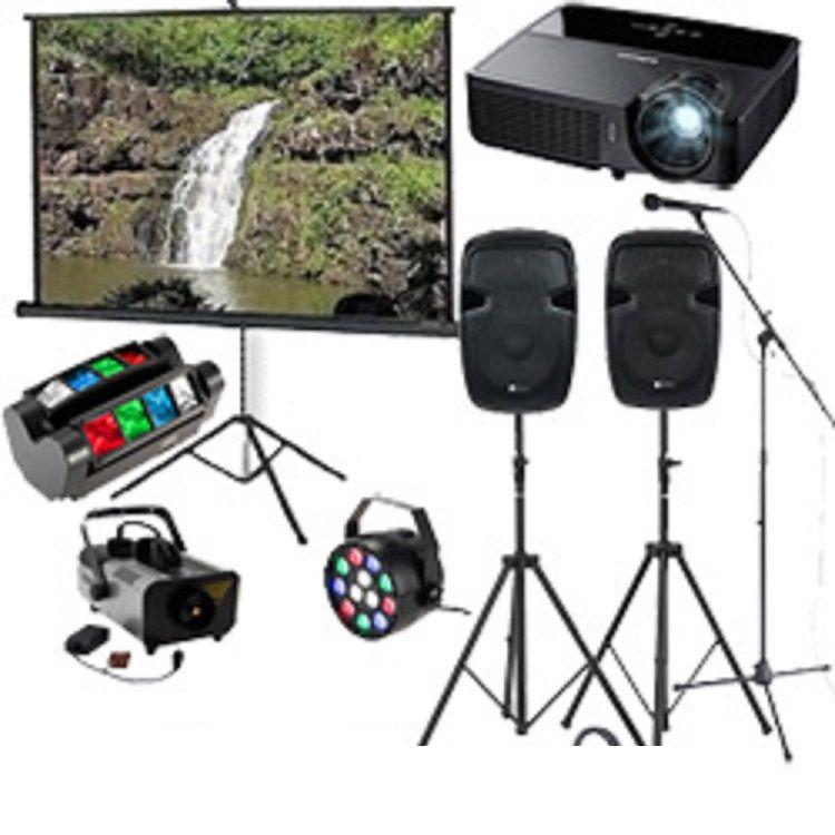 Šviesos, garso, karaoke, vaizdo projektoriaus nuoma