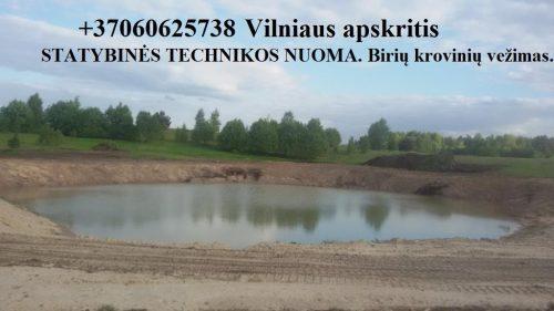 Statybines technikos nuoma 860625738 zvyras, juodzemis Vilniuje