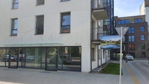 Nuomojamos naujos statybos prekybos/paslaugų patalpos Bangų g. 7 Klaipėdoje.