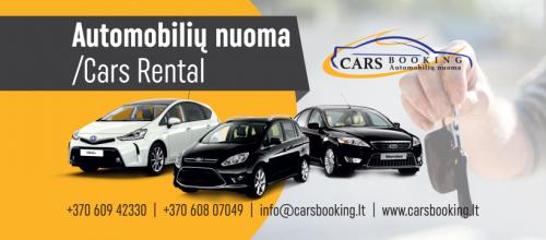 CarsBooking- Automobilių nuoma Lietuvoje geriausiomis sąlygomis ir kainomis