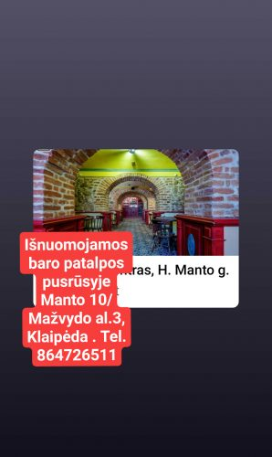 Patalpų nuoma Klaipėda, Centras, H. Manto g.