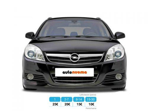 Automobilių nuoma – Opel Vectra, 2006