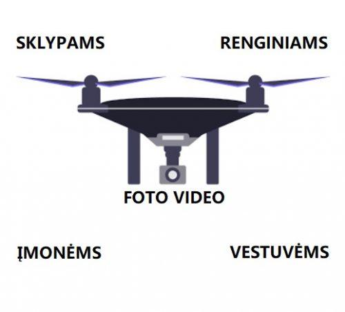 Nuomojamas dronas su operatoriumi